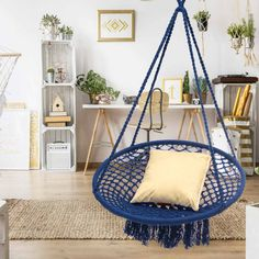 Beautiful And Stylish Indoor Swing Chair For Bedroom Swing Chair For Bedroom, Hanging Hammock Chair, Swinging Chair, Hanging Chairs, 70s Home Decor, Home Decor Bedroom, Room Decor, Shabby Chic Bedrooms, Guest Bedrooms
