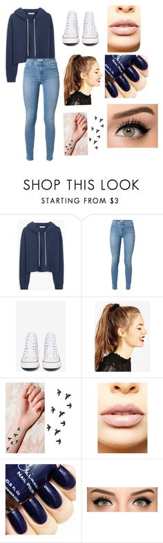 """""""Untitled #28"""" by therealcheesequake on Polyvore featuring MANGO, Converse, ASOS and LASplash"""