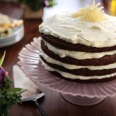 Zucchini and Ginger Naked Cake with Ginger Cream Cheese Frosting By Valerie Bertinelli