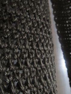 Granite Stitch scarf pattern- extended single crochet stitch