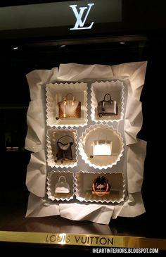 Louis Vuitton Window Display :: Box of Chocolates. I think I could handle this box of chocolates. Fashion Window Display, Fashion Displays, Window Display Design, Store Window Displays, Visual Merchandising Displays, Visual Display, Vitrine Design, Decoration Vitrine, Window Art