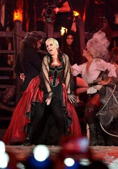 Annie Lennox performing at the Olympics closing ceremony