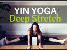 Yin Yoga for a Deep Hip Stretch - 45 min Full Class for Hip Flexibility Yoga Bewegungen, Yoga Moves, Iyengar Yoga, Yin Yoga Posen, Yoga Fitness, Fitness Goals, Reiki, Videos Yoga, Hip Opening Yoga