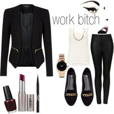 """Work Wear"" by cnb333 on Polyvore, gotta look glam for my good ol retail job. makeup store."