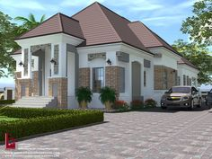 1 new message House Plans Mansion, Bungalow House Plans, Modern House Plans, Bungalow Haus Design, Duplex Design, Beautiful House Plans, Beautiful Homes, Philippines House Design, 4 Bedroom House Designs