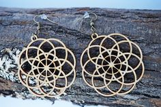 Orecchini di legno di taglio Laser di filigrana / gioielli