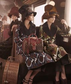 Louis Vuitton A/W12 featuring Julia Nobis, Magda Laguinde and Marie Piovesan, styled by Karl Templer, photography by Steven Meisel