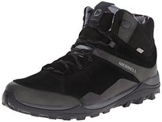 Merrell Mens Fraxion Mid Waterproof Hiking Boot Black 10 M US >>> Check out the image by visiting the link.(This is an Amazon affiliate link)