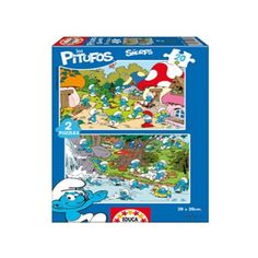15389 - Puzzle Los Pitufos 2 x 20 piezas, Educa.  http://sinpuzzle.com/puzzles-infantiles-20-piezas/688-puzzle-los-pitufos-2x20-piezas.html