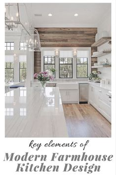 What makes a beautiful modern farmhouse kitchen? Here we feature some of the most prevalent, and important, key elements of modern farmhouse kitchen design that we are seeing in some of the most stunning kitchens today interior design kitchen Little House, Home Decor Kitchen, House Design, House, Home, Modern Farmhouse Style Living Room, Farmhouse Style Living Room Decor, Modern Farmhouse Kitchens, Kitchen Design
