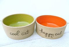 Hey, I found this really awesome Etsy listing at https://www.etsy.com/listing/127929372/personalized-cat-bowl-pottery-pet-bowl
