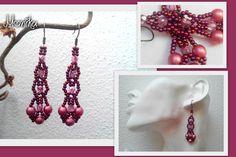 Toho rocail with czech pearls a fire polished Beading, Polish, Fire, Pearls, Earrings, Jewelry, Ear Rings, Beads, Vitreous Enamel