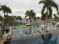 The four amazing infinity pools at Andaz Hotel in Maui.