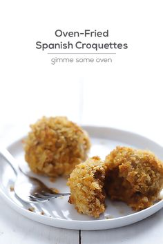 Oven-Fried Spanish Croquettes | gimmesomeoven.com