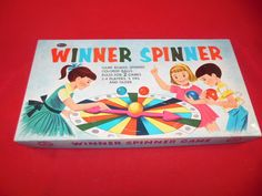"""Whitman """"Winner Spinner"""" board game set (two different games can be played with it), 1959."""