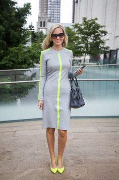 neon + sporty = office style