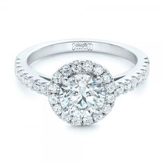 Custom Diamond Halo Engagement Ring #JosephJewelry