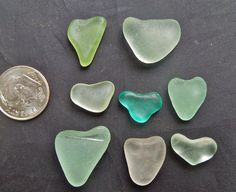 Sea Glass  or Beach Glass HEARTS  of HAWAII by SeaGlassFromHawaii, $32.00