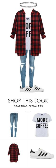 """Untitled #146"" by glittergorgeous75 ❤ liked on Polyvore featuring Topshop, adidas, women's clothing, women's fashion, women, female, woman, misses and juniors"