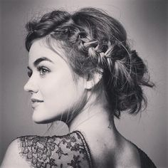 Lucy Hale Braided Up-do