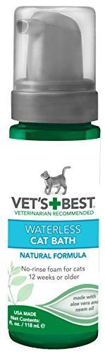 Vets Best NoRinse Clean Waterless Cat Shampoo Natural Formula 4 oz ** Click image for more details.