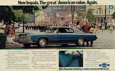 All sizes | 1972 Car Ad, Chevrolet Impala Custom Coupe (2-page advert) | Flickr - Photo Sharing!