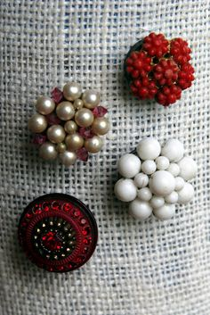 vintage earrings made into magnets