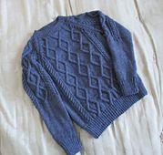 154 Pull à torsades géométriques pattern by Bergère de France
