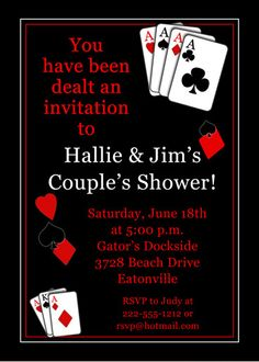 Casino night custom birthday invitation casino night pinterest casino vegas poker birthday party invitation idea for tims stopboris Choice Image