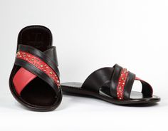 Italian Shoes, Brown Sandals, Designer Shoes, Decal, Black Leather, Italy, Touch, Boutique, Red