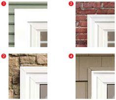Exterior Window Trim Brick vinyl siding and window trim - google search | garage door ideas