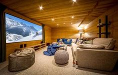 Luxury SKI Chalets Morzine : If you want to enjoy fully in your ski trip, then hire the best ski trip organizer in Morzine. Best Skis, Ski Chalet, Travel Organization, Playroom, Skiing, Basement, Couch, Luxury, Furniture
