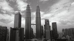 Petronas Towers in B&W