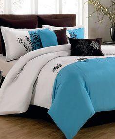 Blue Zen Comforter Set