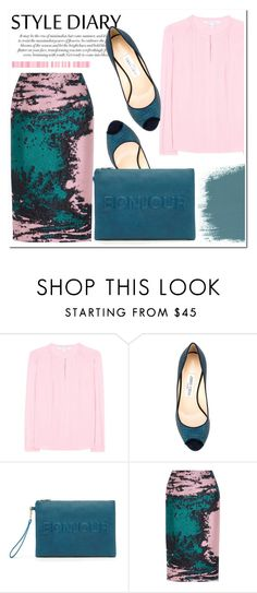 """Untitled #1065"" by samha ❤ liked on Polyvore featuring Diane Von Furstenberg, Jimmy Choo, Sole Society and MSGM"