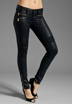 love these moto jeans - super cute with all of the zippers