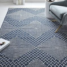 Traced Diamond Kilim Rug | west elm - 5'x8' - $399 (less 20% is $319.20) OR 8'x10' - $779 (less 20% is $623.20)