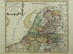 """Afmeting: 16 x 19,5 cm. Conditie: uitstekend. Middenvouw als uitgegeven. Handgekleurd. Kopergravure verschenen in een Italiaanse atlas. Venetië 1799. N.B. De kaart wordt niet genoemd in; """"De Kaart van de Republiek der VII Provincién 1615-1797"""". H.A.M. van der Heijden en D.I. Blonk Ook niet in: """"De kaart in de Franse Tijd 1795-1814"""". H.A.M. van der Heijden."""