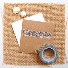 Geometric Box Washi via freckled fawn