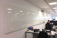 Bespoke Whiteboard - Our longest ever! Marker Board, Computer Lab, Dry Erase Board, Office Furniture, Custom Whiteboards, Home And Living, Bespoke, Things To Think About, Labs