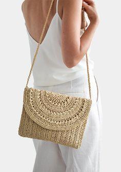 Wonderful No Cost Macrame bag etsy Tips Crochet Raffia Clutch, Cross Body Purse, Raffia Shoulder Bag, Straw Summer Bag, Raffia Clutch Handb Crochet Handbags, Crochet Purses, Crochet Bags, Crochet Clutch Bags, Crochet Market Bag, Women's Handbags, Hand Crochet, Free Crochet, Crochet Summer