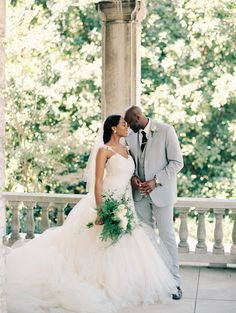 Photography : Starling and Sage | Wedding Dress : Lauren Elaine Bridal | Groom's Attire : Sergio Rossi | Floral Design : Bartlett Florist Read More on SMP: http://www.stylemepretty.com/2017/01/17/a-storybook-mansion-set-wedding/