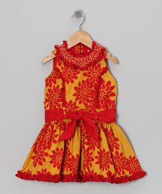 Save Now on this Gold & Red Poinsettia Princess Dress - Toddler & Girls by Trish Scully Child on #zulily today!
