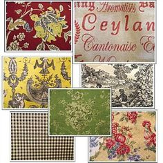 French Country Farmhouse Decor Colors Fabric
