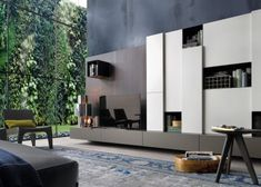 Sectional wooden TV wall system SINTESI by Poliform design Carlo Colombo Modern Interior, Interior Architecture, Interior And Exterior, Interior Design, Tv Design, House Design, Moderne Pools, Modern Wall Units, Italian Furniture