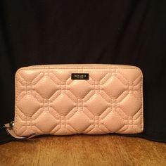 Kate Spade wallet Final markdown Light pink leather. Very little wear. Super buy. Large wallet kate spade Bags Wallets