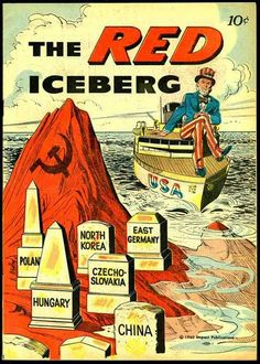 'American anti-communist poster of the cold war.'(US HISTORY) Cold War Propaganda, Communist Propaganda, Propaganda Art, Vintage Ads, Vintage Posters, Red Scare, Horror Movie Posters, Political Cartoons, Political Posters
