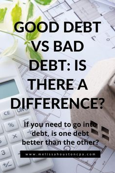 What is good debt vs bad debt?  When you need to bring on debt, you need to consider if that decision is a smart one.  For beginners, personal finance decisions can be difficult when you don't understand the consequences of your decisions.  Learn the difference between good debt and bad debt and make informed decisions.  #getoutofdebt #debtfree #baddebt Debt Repayment, Debt Payoff, Financial Planning, Financial News, Debt Snowball, Paying Off Credit Cards, Financial Stability, Get Out Of Debt, Investing Money