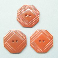 Vintage Buttons Catalin Plastic Art Deco Red by Butterflybuttons, $3.00