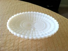 Vintage Milk Glass Soap Dish with Owl Design